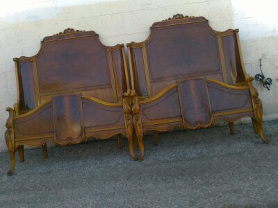 Antique Matching Twin Beds