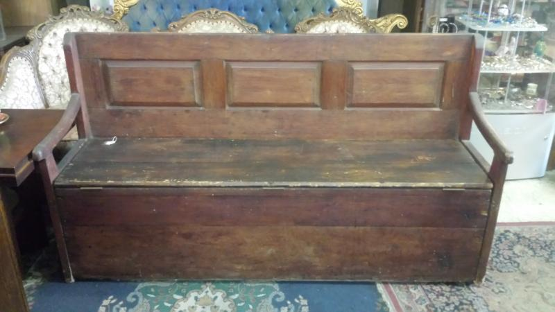 Antique Bench with storage