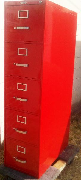 Charmant Red File Cabinet Freshly Powder ...