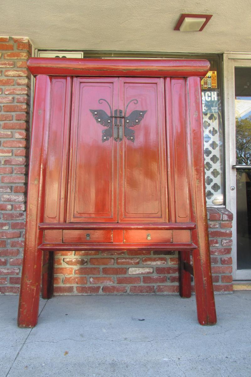 Cheap vintage asian cabinet