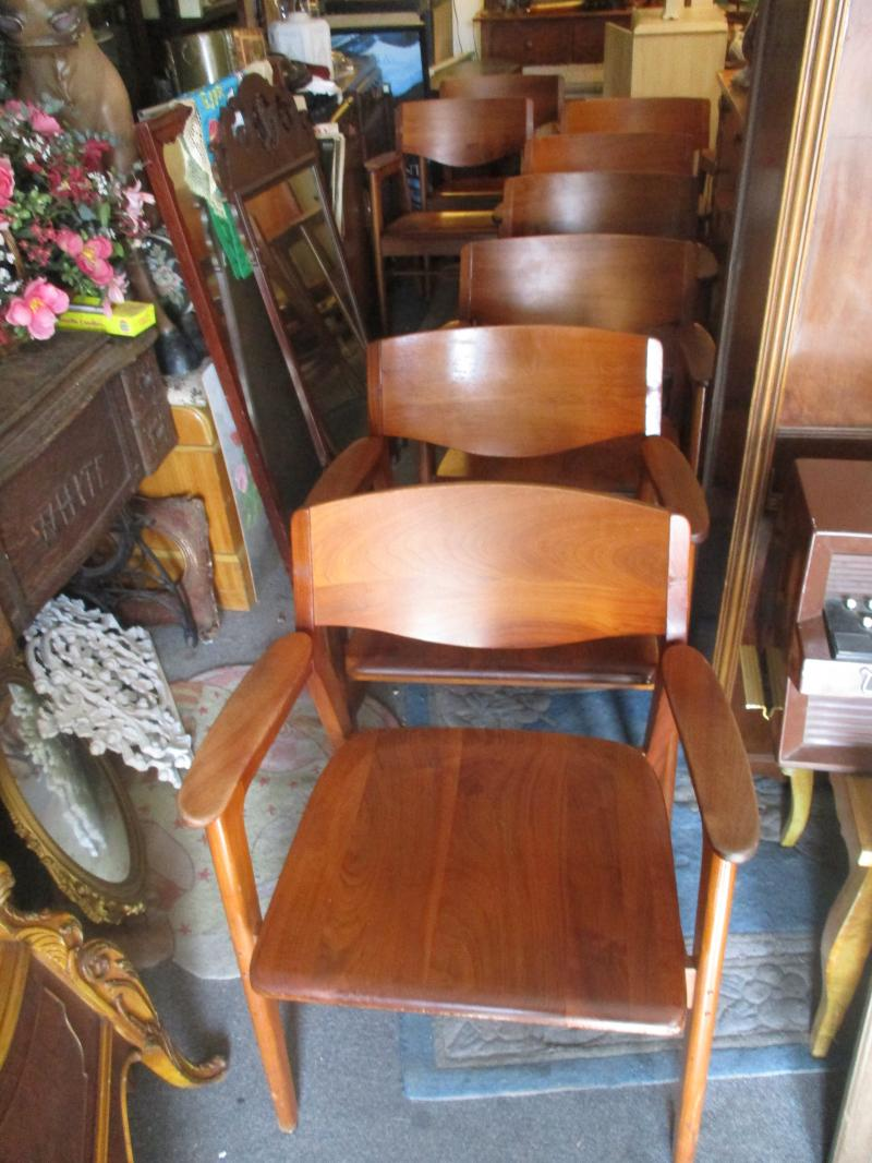 Mid Century Modern Walnut Chairs ... - Cheap - Antiques At Cheap, 25408 Narbonne Ave., Torrance / Lomita