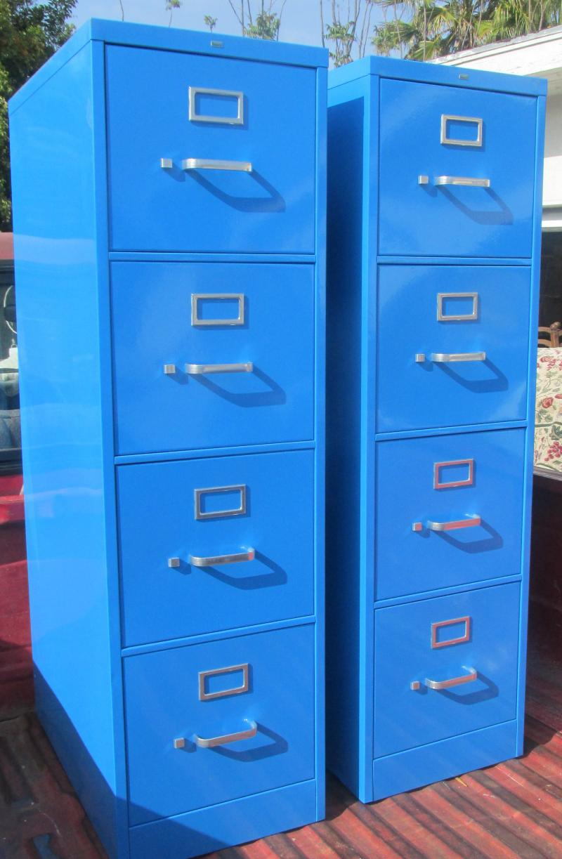 Superieur Blue File Cabinet