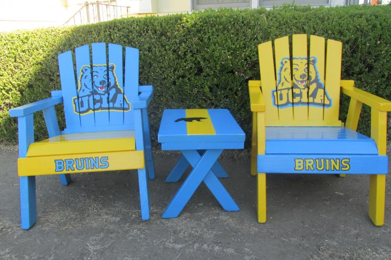 UCLA Chair Hand Painted Adirondack