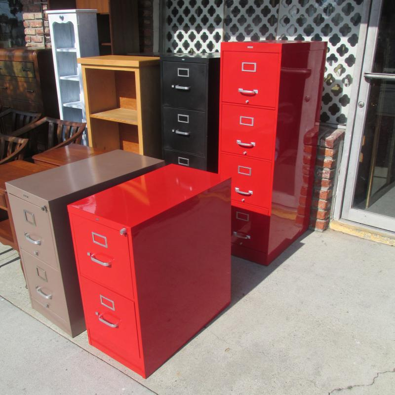 Used File Cabinets Powder Coated Red