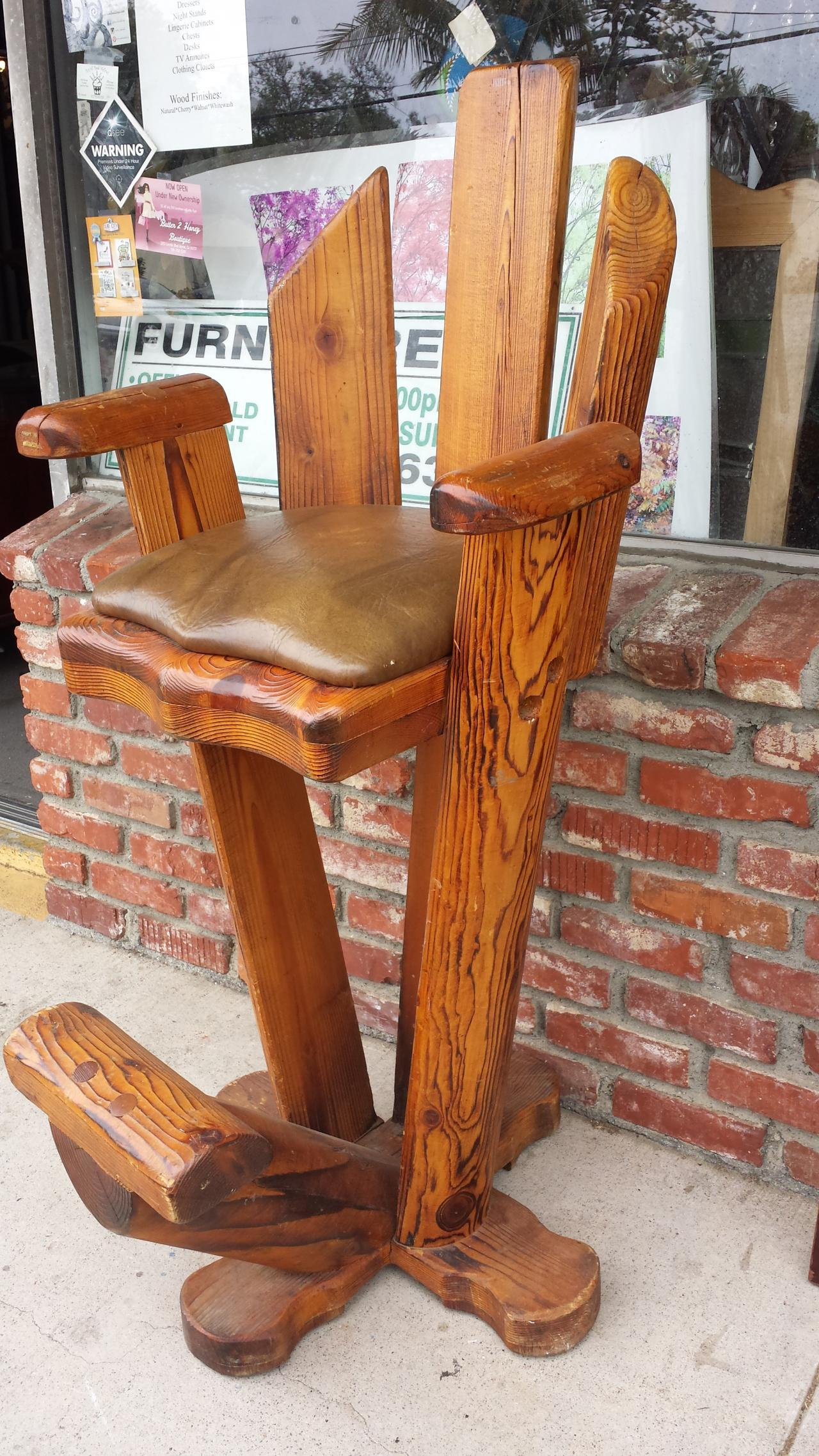 cheap used furniture. Brilliant Cheap Used Furniture Vintage Log Bar Chair Intended Cheap Furniture E
