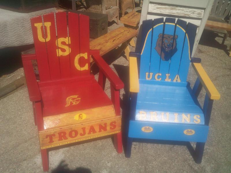 Usc UCLA Chairs Adirondack Handpainted